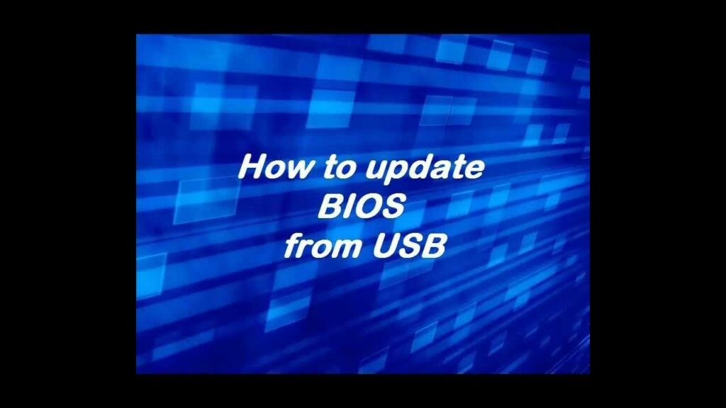 How to create a bootable uefi usb drive for bios updates